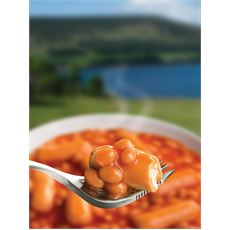 Beans and Sausage In Tomato Sauce Ready-to-Eat Camping Food