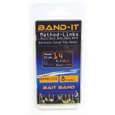 "Method Bait Band 4"" Hooks to Nylon, size 10"