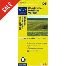 'TOP 100' Series: 105 Charleville-Mezieres / Verdun Folded Map