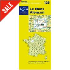 'TOP 100' Series: 126 Le Mans / Alencon Folded Map