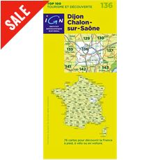 'TOP 100' Series: 136 Dijon / Chalons-sur-Saone Folded Map