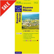 'TOP 100' Series: 142 Roanne / Macon Folded Map