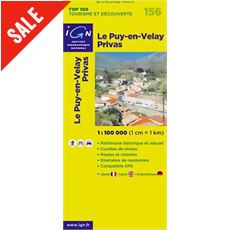 'TOP 100' Series: 156 Le Puy-en-Velay / Privas Folded Map
