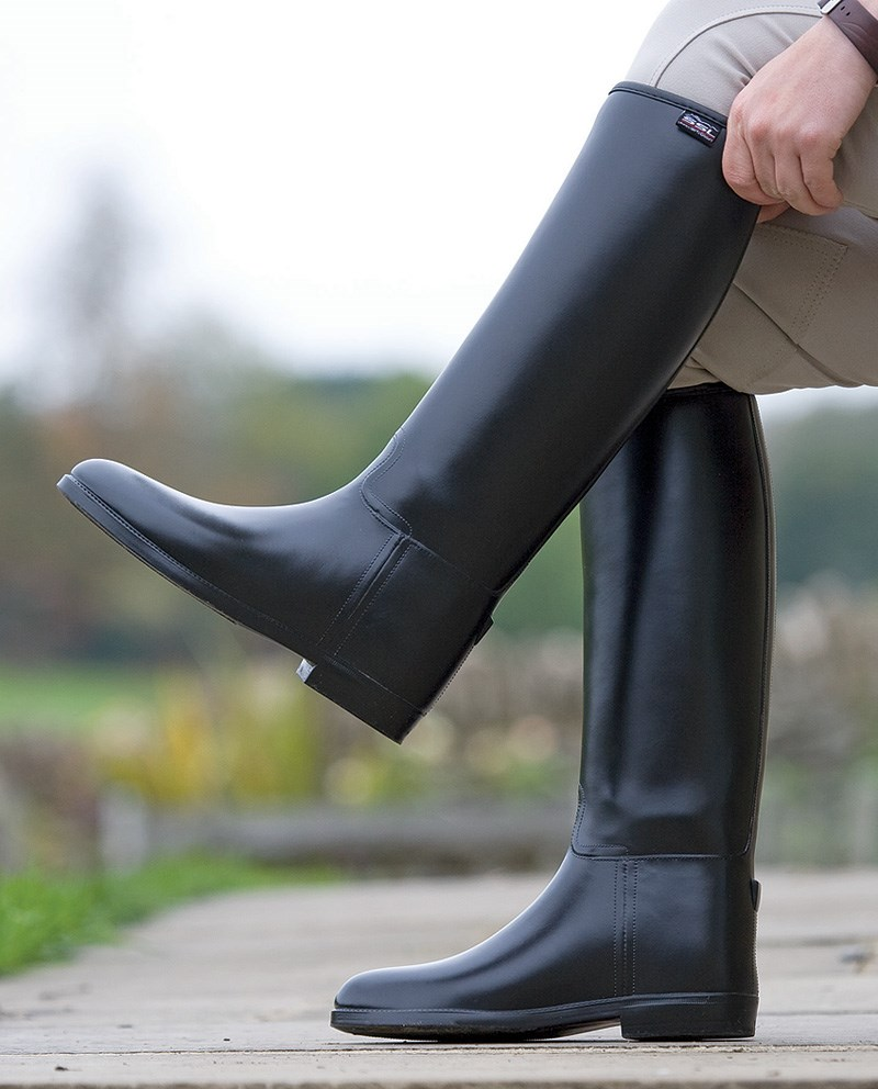30b1b16f23 Shires Ladies  Long Rubber Riding Boots (Wide)