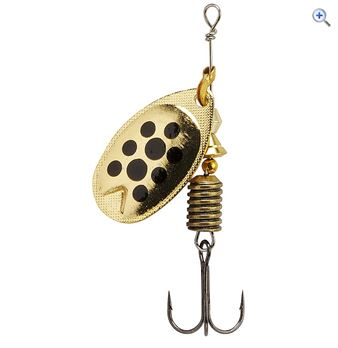 Abu Garcia Fast Attack Lure 10g (Gold/Black Dots) - Colour: GOLD BLACK