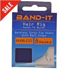 Hair Rig Hooks to Nylon (size 10)
