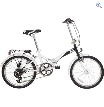 Compass 'Northern' Folding Bike – Colour: White And Black