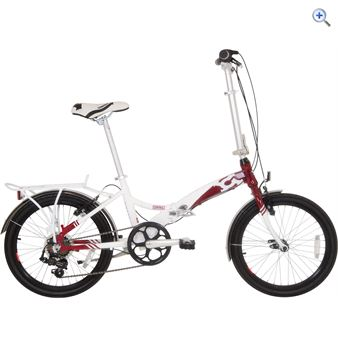 Compass 'Central' Folding Bike – Colour: WHITE-RED