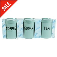 3 Piece Plastic Canister Set