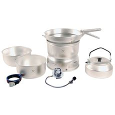 25-2 GB Stove with Alloy Pans, Kettle & Gas Burner