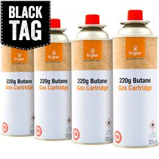220g Butane Gas Cartridge (4 pack)