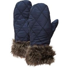Women's Fur Trim Insulated Mitts
