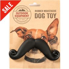 Rubber Moustache Dog Toy