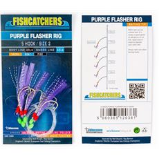 5 Hook Purple Flasher Rig 2