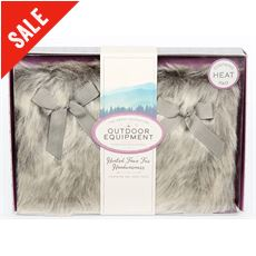 Heated Faux Fur Hand Warmer Set