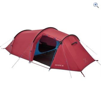 OEX Coyote III 3 Person Tent - Colour: Red