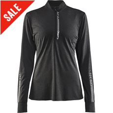 Women's Mind LS Reflective Zip Tee