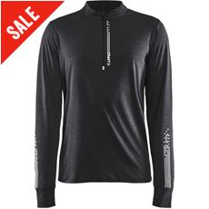 Men's Mind LS Reflective Zip Tee