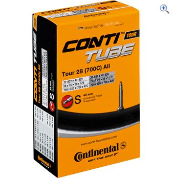 Image of Continental Tour 28 700 x 32-47mm Long Presta Valve Inner Tube