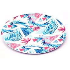 Abstract Leaf Melamine Plate