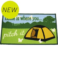 Washable 'Home is where you pitch it' Mat