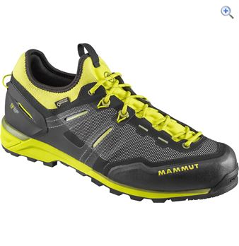 Mammut Mammut Men's Alnasca Knit Low GORE-TEX® Shoes – Size: 10 – Colour: BLACK – CITRON