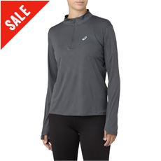 Women's Silver LS ½ Zip Top