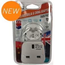 2pk Travel Adaptor - UK to Australia & China