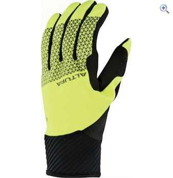 Image of Altura Men's Nightvision 4 Windproof Cycling Gloves - Size: L - Colour: Yellow
