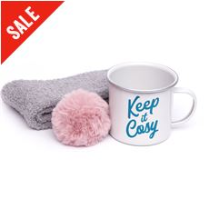 Mug, Socks and Pom Pom Gift Set