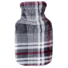Hot Water Bottle with Soft Touch Cover (Check)
