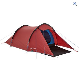 OEX Jackal II Two-Person Backpacking Tent - Colour: Red