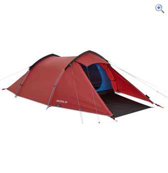 OEX Jackal III Three-Person Backpacking Tent - Colour: Red