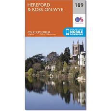 Explorer Map 189 Hereford & Ross-on-Wye