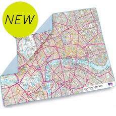 SoftFibre Ordnance Survey Travel Towel XL (London)