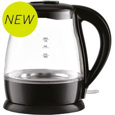 Low Wattage Light Up Glass Kettle