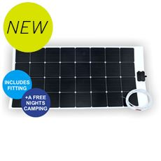 100W Flexible ETFE Solar Panel (including installation and a free nights camping)